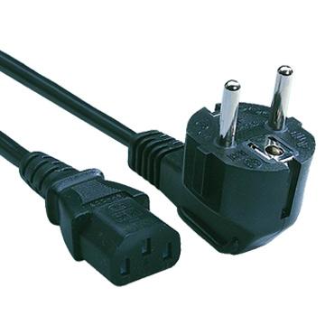 230V AC/10A Euro Netzkabel UL/CSA 6ft (1.8m)