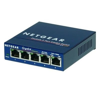 Netgear Prosafe GS105 - Prosafe 5 port 10/100/1000Mbit Lanswitch unmanaged