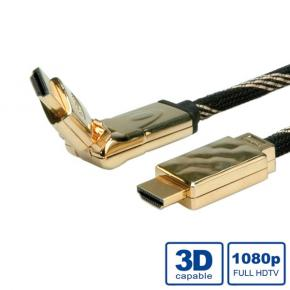 *ADJ ADJBL11045507 [HDMI High Speed Gold Cable with Ethernet, with 3D swivel - 2M]