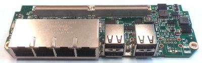 Fit-PC3 / Intense-PC(2) Face Module 4xLan / 4xUSB