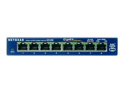 Netgear Prosafe GS108GE - 8 port 10/100/1000Mbit Lanswitch unmanaged