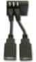 Fit-PC mini USB to USB A adapter - set of 2